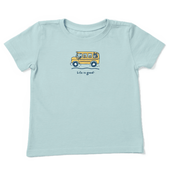 Toddler Friends School Bus Vintage Crusher Tee