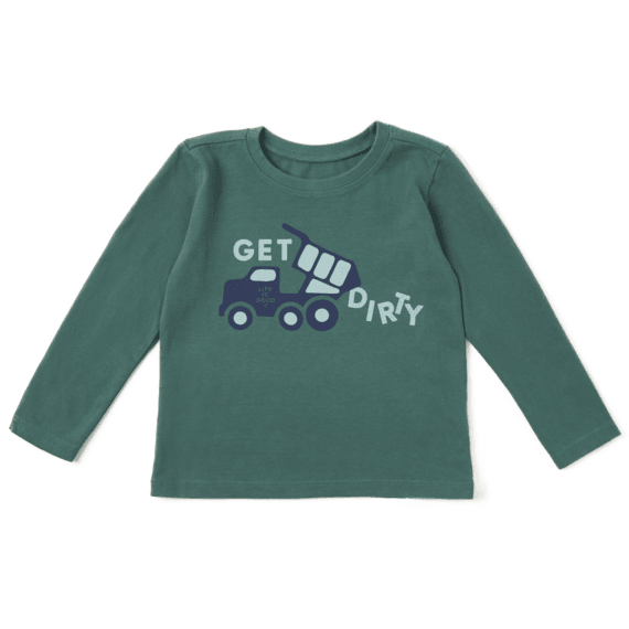 Toddler Get Dirty Long Sleeve Crusher Tee