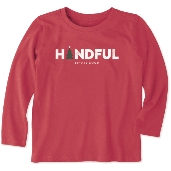 Toddler Handful Long Sleeve Crusher Tee