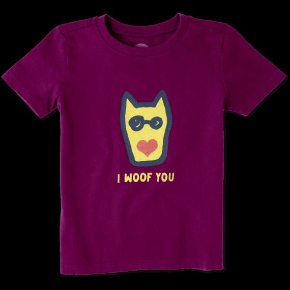 Toddler I Woof You Crusher Tee