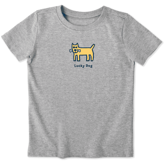 Toddler Lucky Dog Vintage Crusher Tee
