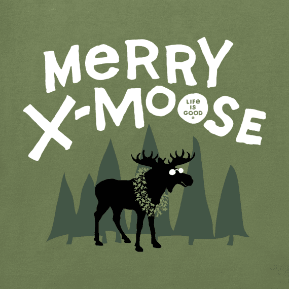 Toddler Merry X-Moose Long Sleeve Crusher Tee
