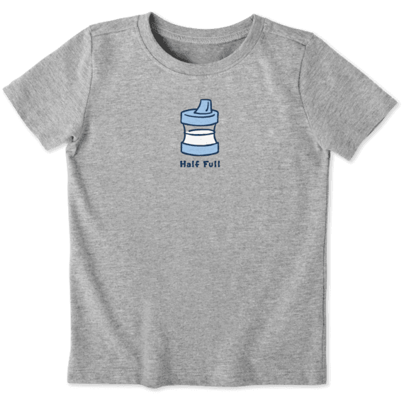 Toddler Sippy Cup Half Full Vintage Crusher Tee