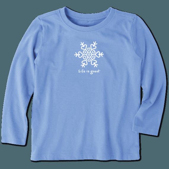 Toddler Snowflake Long Sleeve Vintage Crusher Tee