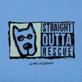 Toddler Straight Outta Rescue Long Sleeve Crusher Tee
