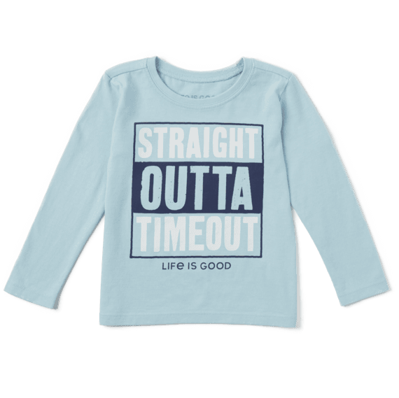 Toddler Straight Outta Timeout Long Sleeve Crusher Tee