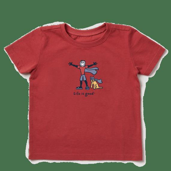 Toddler Superhero Jake & Rocket Vintage Crusher Tee