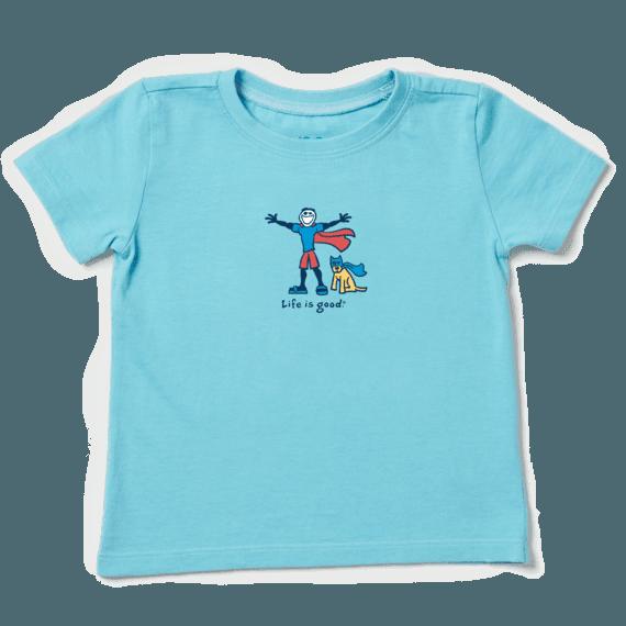 Toddler Superhero Jake and Rocket Vintage Crusher Tee