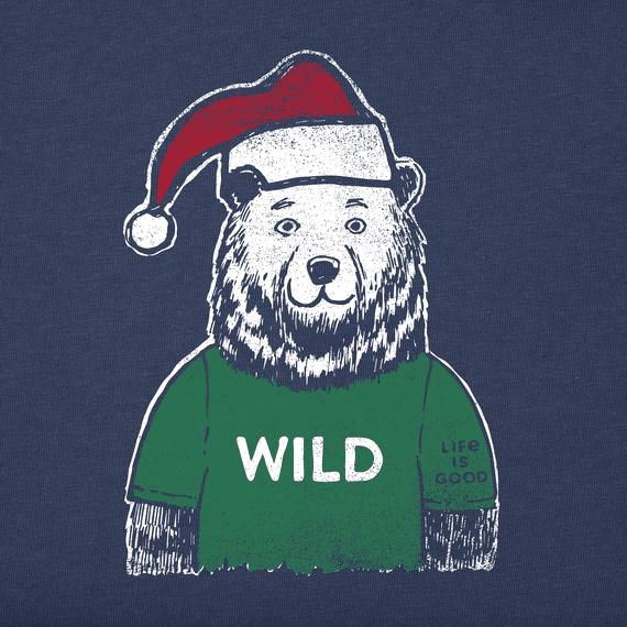 Toddler Wild Santa Bear Long Sleeve Crusher Tee