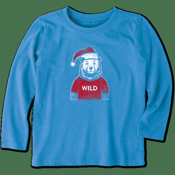 Life is Good Boys Holiday Long Sleeve Crusher T-Shirt Shine on Menorah