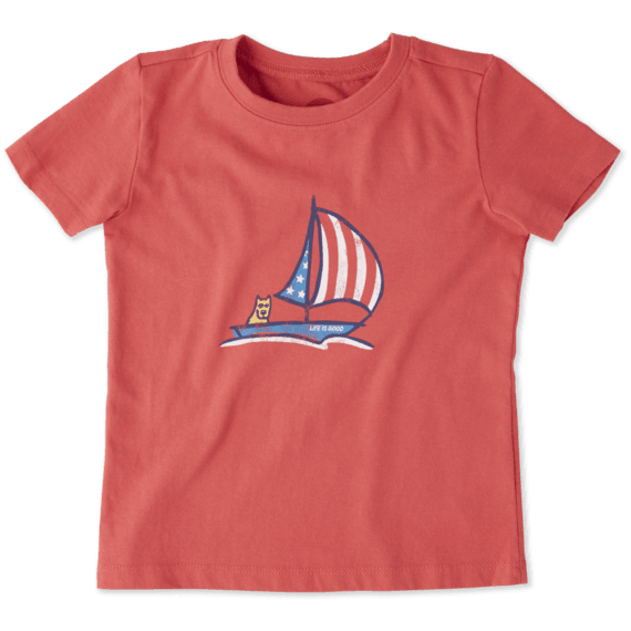 Toddlers Americana Sailboat Crusher Tee Crew