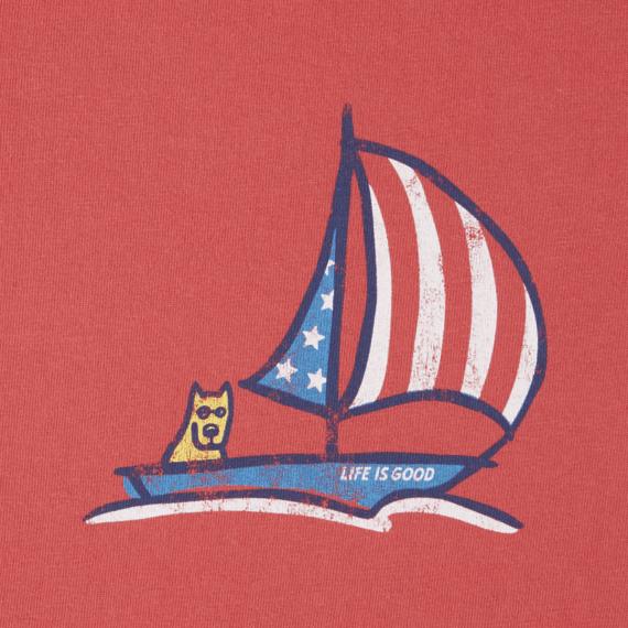 Toddlers Americana Sailboat Crusher Tee Crew