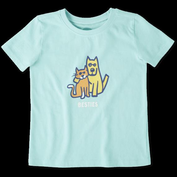 Toddlers Besties Rocket & Cat Crusher Tee Crew