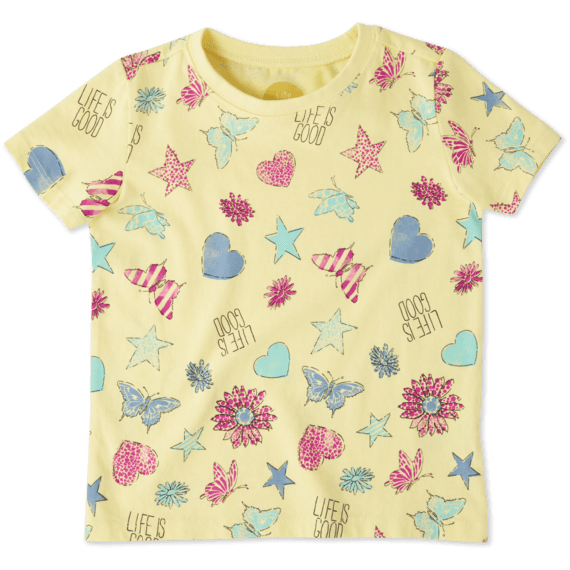 Toddlers Float Like a Butterfly Crusher Tee Crew