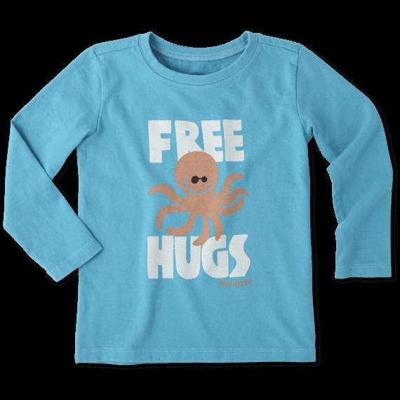 Toddlers Free Hugs Long Sleeve Crusher Tee