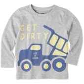 Toddlers Get Dirty Long Sleeve Crusher Tee