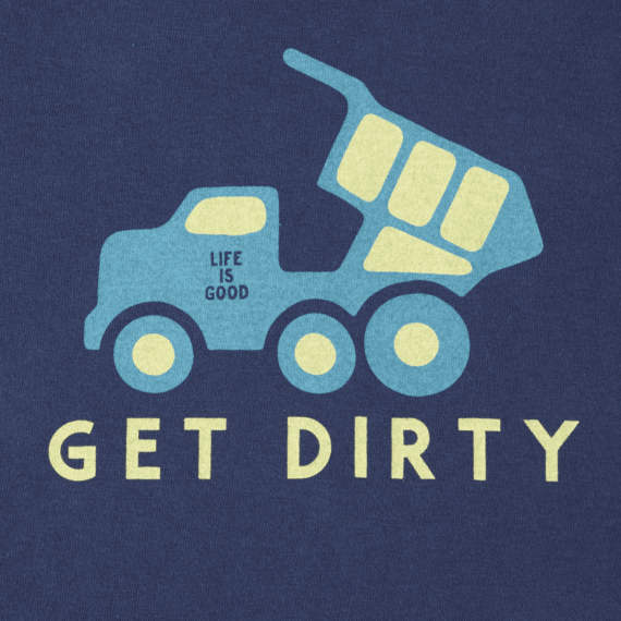Toddlers Get Dirty Truck Long Sleeve Crusher Tee