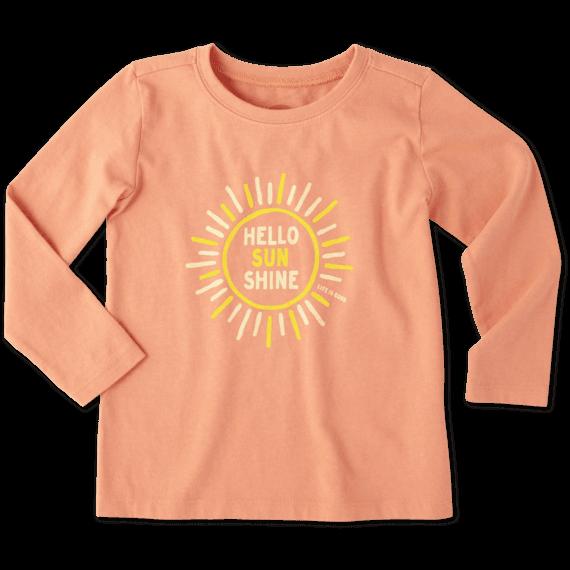 Toddlers Hello Sunshine Long Sleeve Crusher Tee