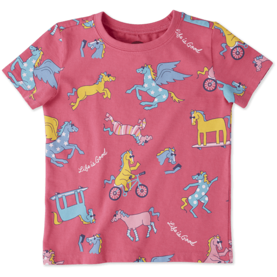 Toddlers Horseplay Fun Crusher Tee Crew