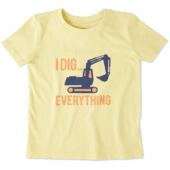 Toddlers I Dig Everything Crusher Tee Crew