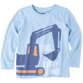 Toddlers I Dig Everything Long Sleeve Crusher Tee
