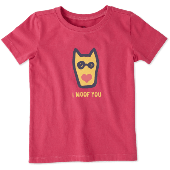 Toddlers I Woof You Crusher Tee