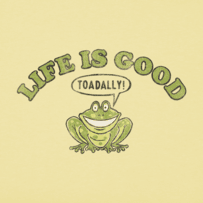 Toddlers Life Is Toadally Good Long Sleeve Crusher Tee