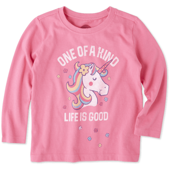 Toddlers One Of A Kind Long Sleeve Crusher Tee