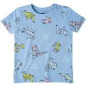Toddlers Raining Cats and Dogs Crusher Tee Crew