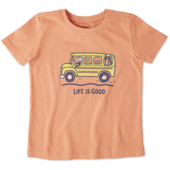 Toddlers School Bus Friends Crusher Tee Crew
