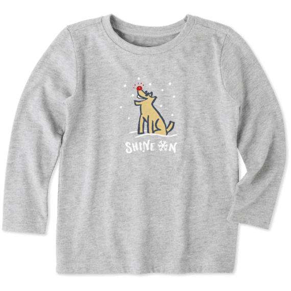Toddlers Shine On Rocket Long Sleeve Crusher Tee