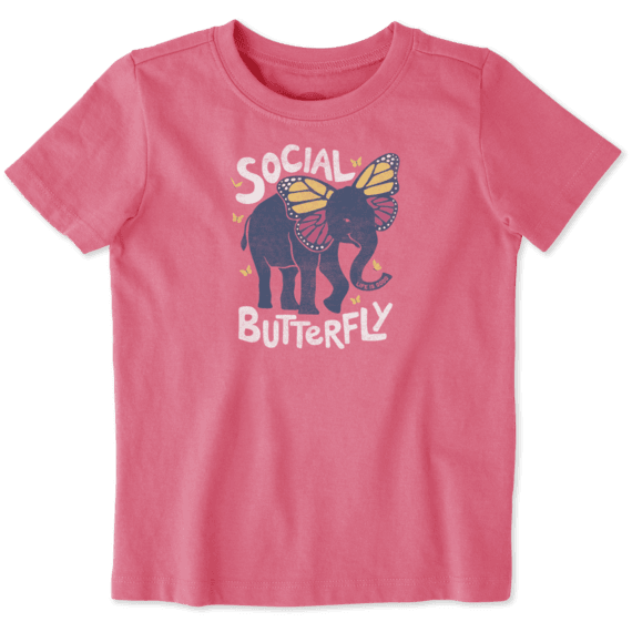 Toddlers Social Butterfly Crusher Tee