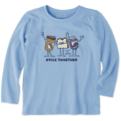 Toddlers Stick Together Long Sleeve Crusher Tee