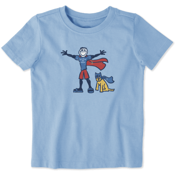 Toddlers Superhero Jake Rocket Crusher Tee