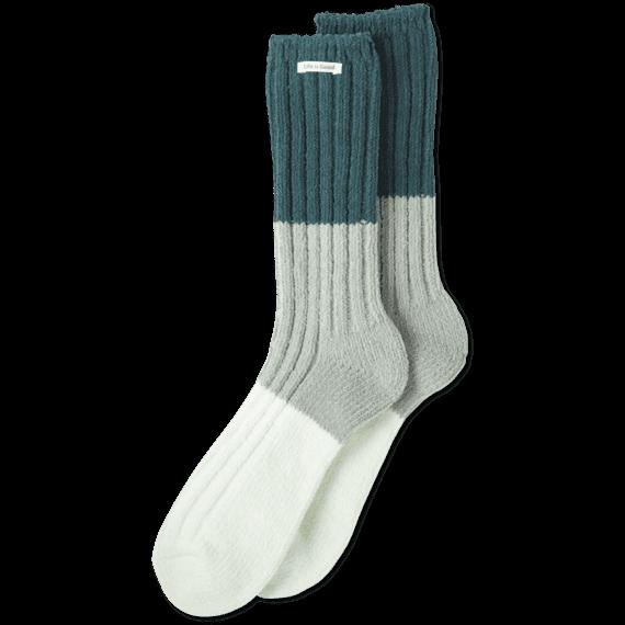 Tricolor Chenille Socks