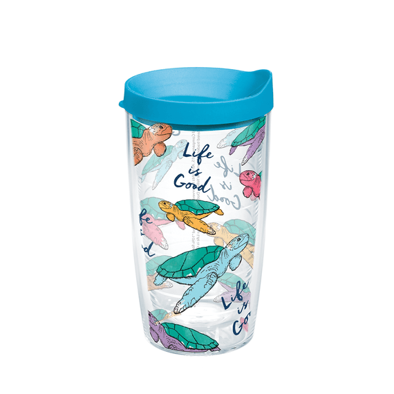 Turtle Pattern Tervis Tumbler with Lid, 16oz