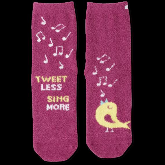 Tweet Less Sing More Snuggle Socks