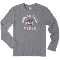 Men's UMass Good Vibes Long Sleeve Cool Tee