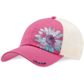 Watercolor Daisy Soft Mesh Back Cap