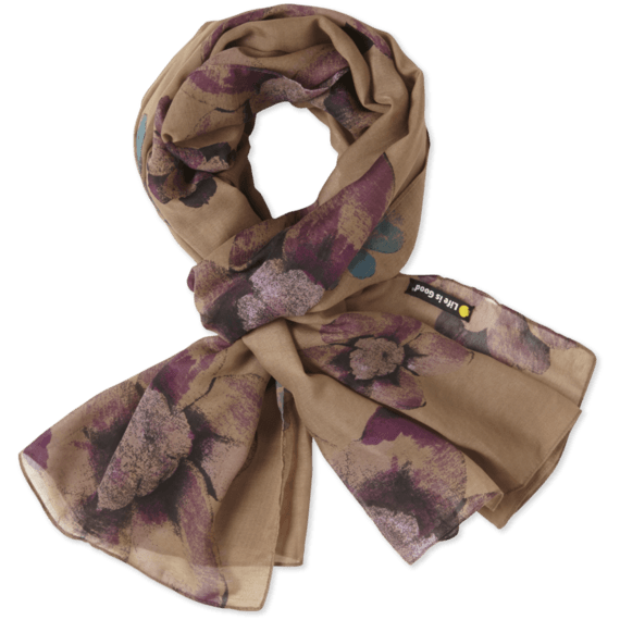 Watercolor Flower Lightweight Scarf