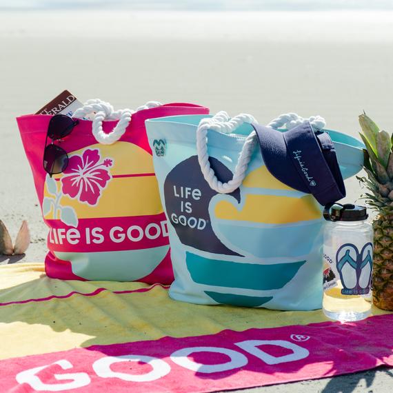 Wave Heart Sunny Day Beach Bag