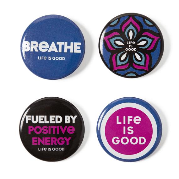 Wellness Positive Pins 4-Pack