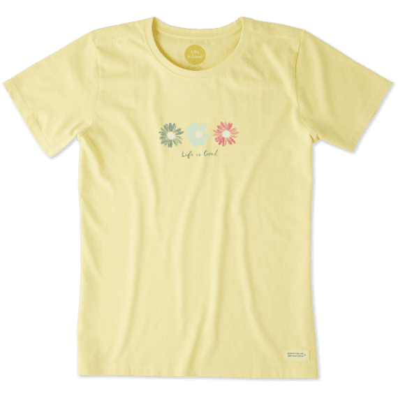 Women's 3 Happy Daisies Crusher Tee