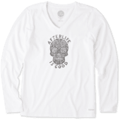 Women's Afterlife Is Good Long Sleeve Crusher Vee
