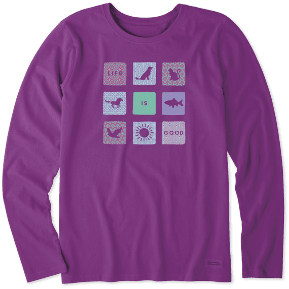 Women's All Life is Good Long Sleeve Crusher Tee