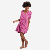 Women's All Over Flowers Swing Dress