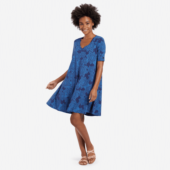 Women's All Over Mandala Swing Dress
