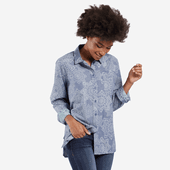 Women's All Over Mandala Good Vibes Button Down