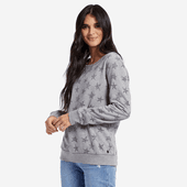 Women's All Over Stars Crew Sweatshirt