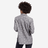 Women's All Over Stars Good Vibes Button Down
